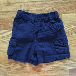 babyGap linen and cotton solid navy blue shorts